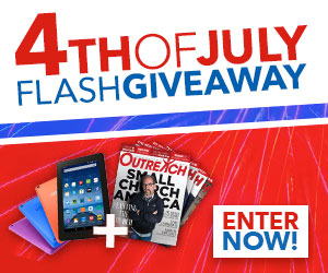 Enter to win a free tablet and Outreach Magazine subscription!